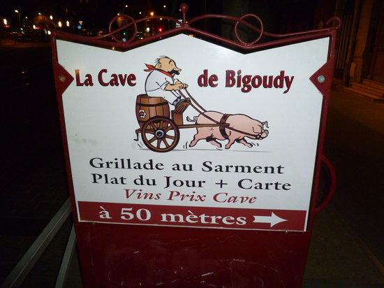 La Cave de Bigoudy : Street signage