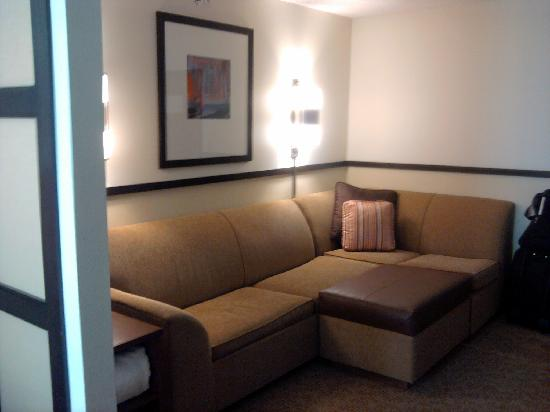 Hyatt Place Charlotte Airport/Tyvola Road: Couch in room