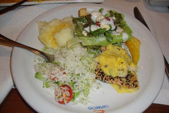 Camaroes Restaurante: Food