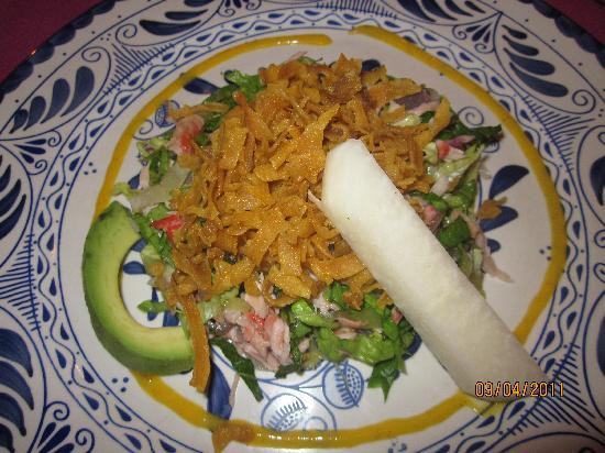 Royal Solaris Los Cabos: Salad with seafood @ Panchos
