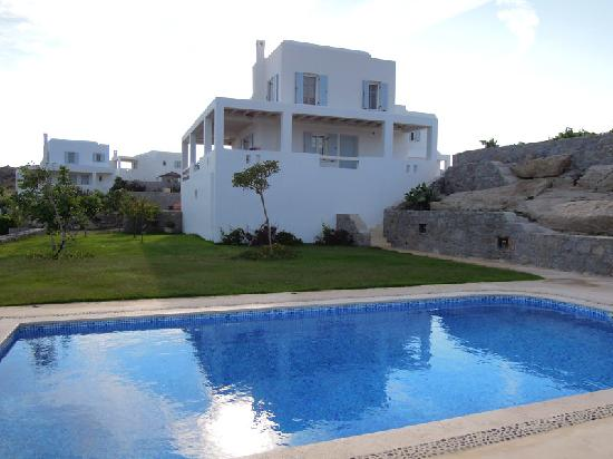 Naxian Collection: View of our villa from the pool