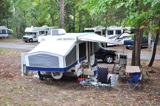Cooper Creek Resort and RV Park: Our campsite