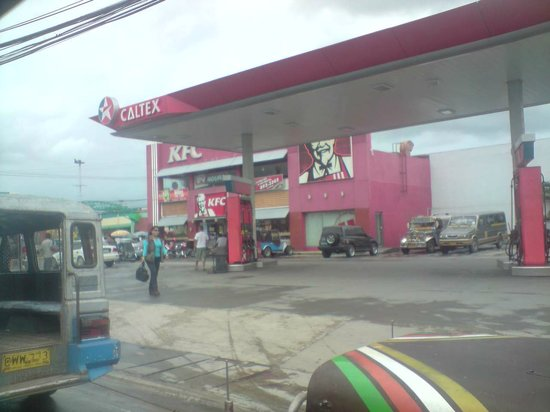 Front Exterior View of KFC and Caltex