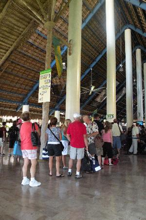 Excellence Punta Cana: waiting in line at the airport to enter country