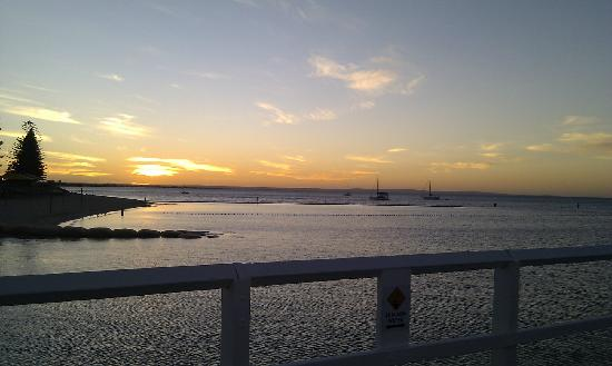 Cycle Round the Bay: Sunset photo I took towards the end of our tour from the Busselton Jetty.