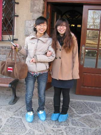 Tianjin Former Residence of Puyi: booties required for main house tour