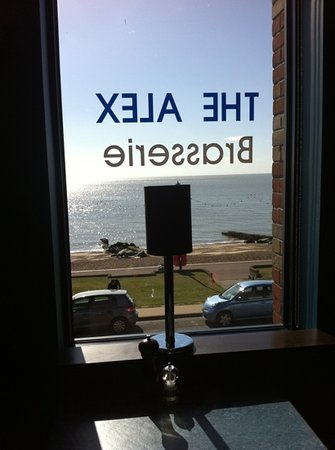 The Alex Cafe Bar & Brasserie: sea view from The Alex