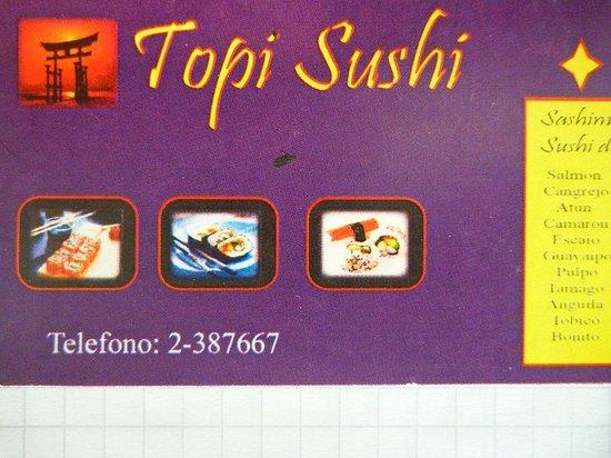 Topi Sushi : 名刺(表)
