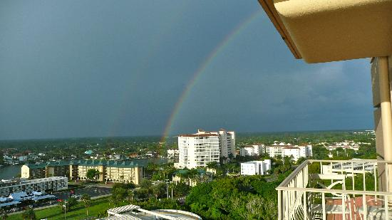 The Ritz-Carlton, Naples: Double rainbow view from Ritz balcony