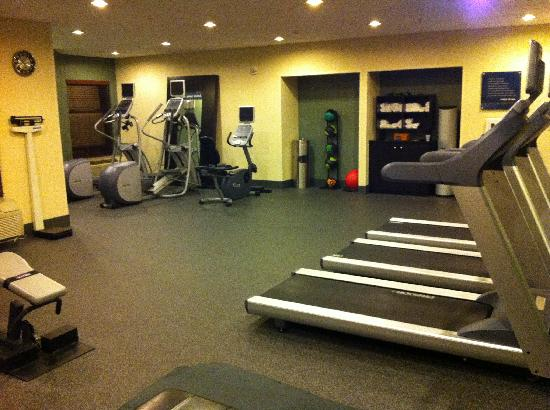 Hampton Inn & Suites East Lansing / Okemos: Fitness center - large open floor for stretching. Freeweights available