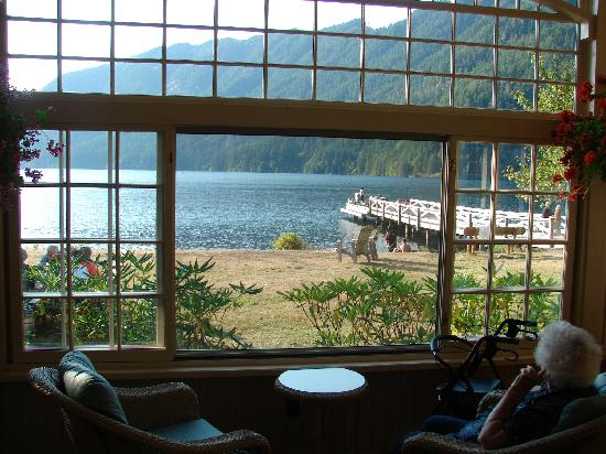 View From Sun Porch In Lodge Picture Of Lake Crescent