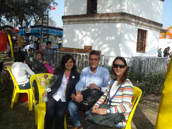 Peru Star Apartments Hotel: We and Rosa, staff of the hotel at the Mistura