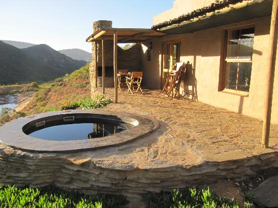 """Tierhoek Cottages: The """"stoep"""" with the plunge pool."""