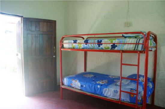 Hostel Orchid: Three bunk beds are available.
