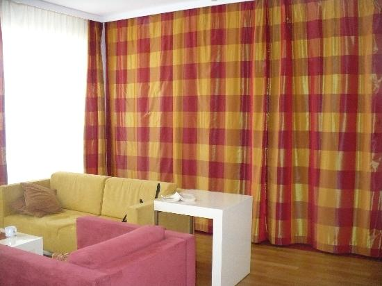 Room with dividing curtain picture of mamaison residence for How to devide a room