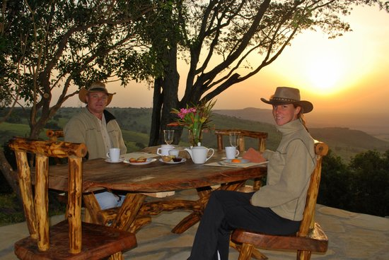Mara West Camp: Breakfast at the sunrise deck