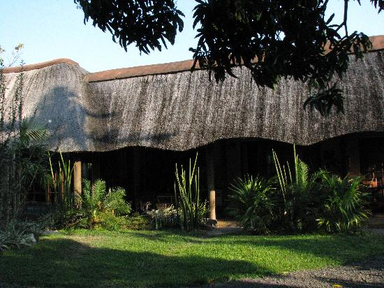 Afrikhaya Guest House: Beautiful thatched African rooves