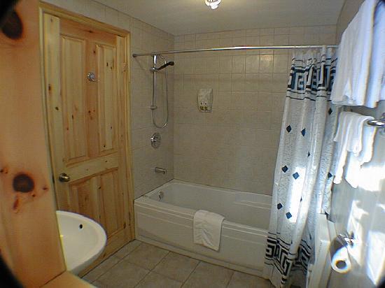 Motel Ours Bleu : Salle de bain privée dans toutes les chambres