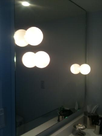 Mondrian South Beach Hotel: The lights on the mirror in our bathroom.  So cool