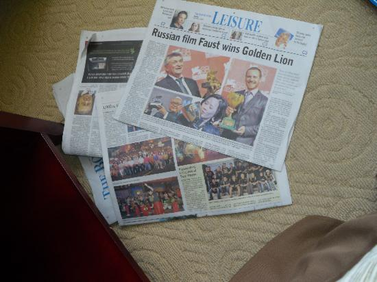 โรงแรมกาย่าเซนทรี่: they offer free newspaper everyday