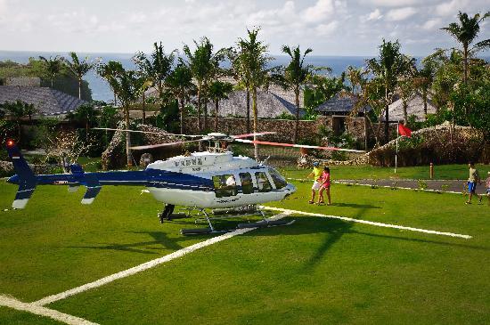 The Ungasan Clifftop Resort: Semara Uluwatu Helipad