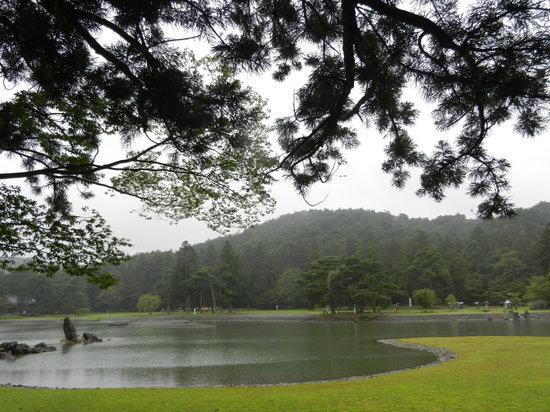 Hiraizumi-cho, اليابان: motsuji pond
