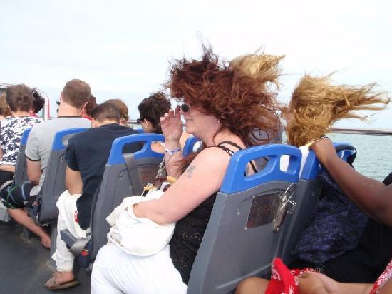 Melia Península Varadero: Riding up top of the double decker