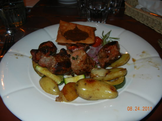 Pasternak: Pork neck entree . . . very tasty.