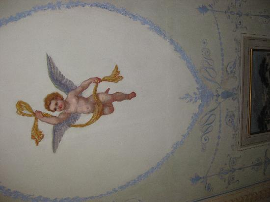 Antica Residenza Cicogna: Ceiling- I think we stayed in the angels room