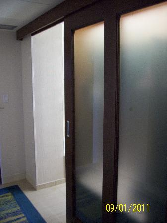 Hyatt Regency Grand Cypress: Bathroom Closet Sliding Panel Door