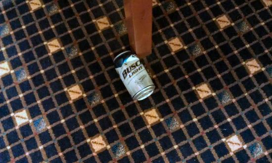 Radisson Hotel Cleveland - Gateway: Beer can in 5th fl lobby. Stay classy Radisson