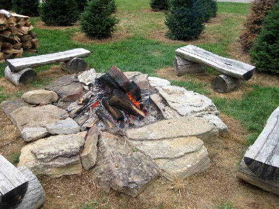 Boyd Mountain Log Cabins : Clinch Cabin Firepit