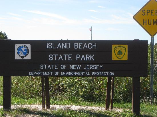 Island Beach State Park: Park Entrance