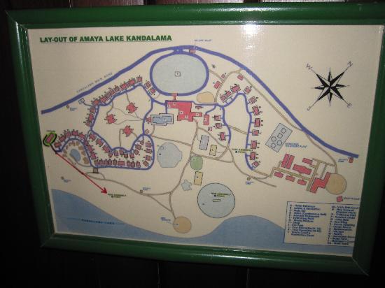 Amaya Lake: map