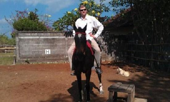 Kuda P Stables, Bali Horse Riding Experience: Me on a horse, of course