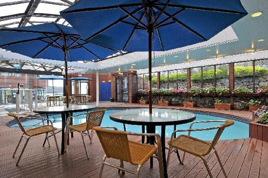 Aotea Lodge: indoor swimming pool and spa pool