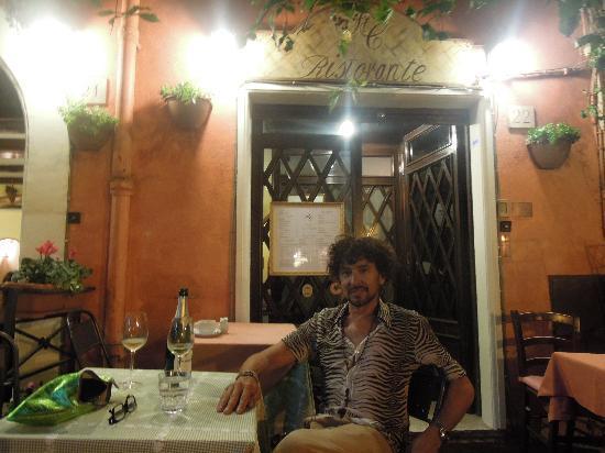 Ristorante Santa Cristina al Quirinale: myself -outside dining