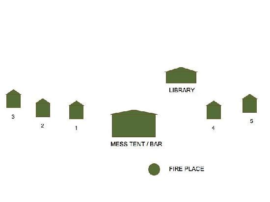 Mkomazi Game Reserve, تنزانيا: Babus Camp Map