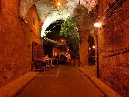 يافا, إسرائيل: Restaurant in der Altstadt