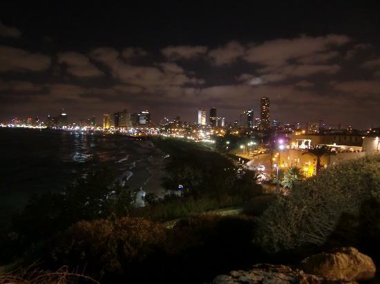 Jaffa, Israel: Blick über Tel Aviv bei Nacht