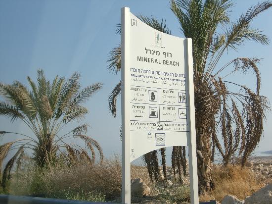 Mineral Beach : Eingangsschild
