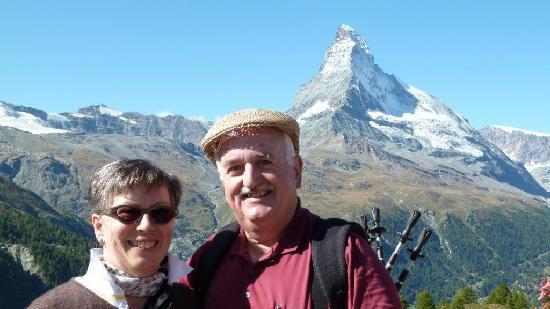 Hotel Mirabeau: Blauherd mit Blick aufs Matterhorn