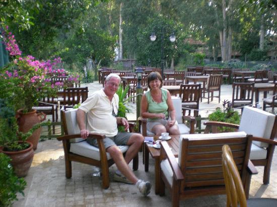 Kerme Ottoman Palace: Morning coffee on the veranda