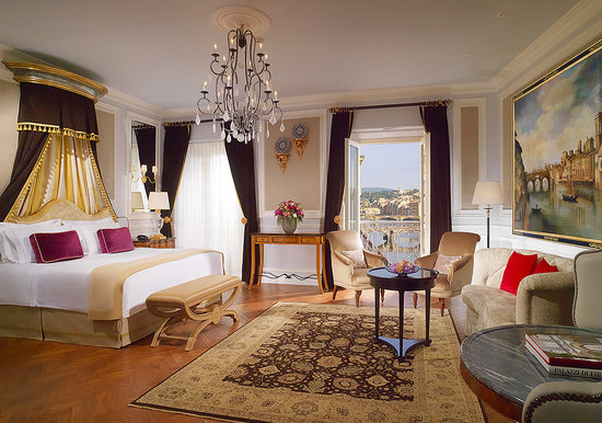 The St. Regis Florence: Junior Suite with Arno River view