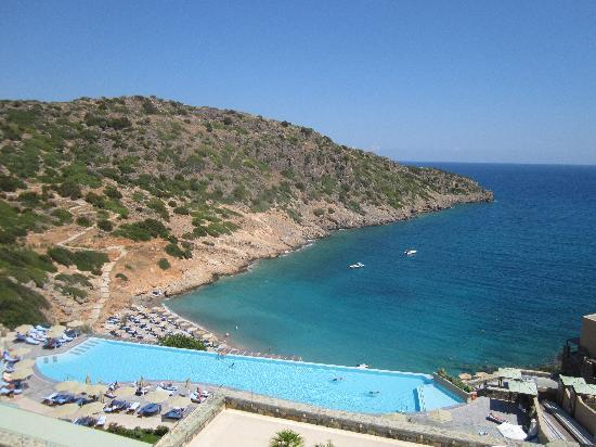 Daios Cove Luxury Resort & Villas: View of the cove from the top of the resort
