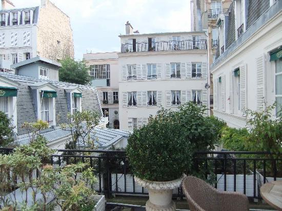 Hotel Duc de Saint Simon: our terrace