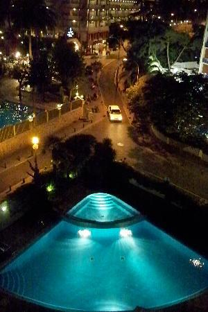 Hotel Acapulco Lloret de Mar : view from our room at night