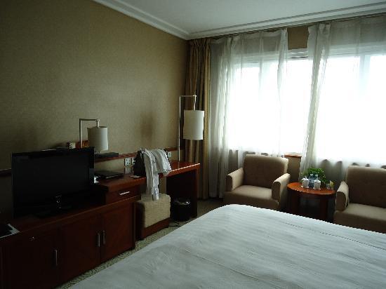 OL Stadium Hotel Beijing: Camera doppia 15esimo piano.
