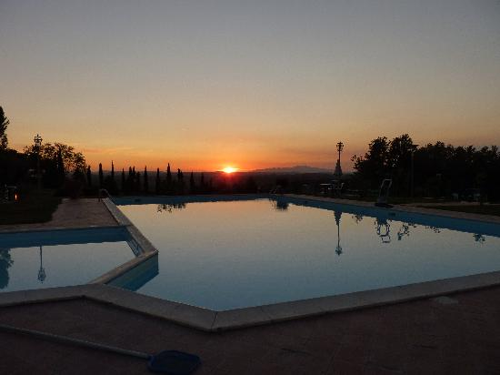 Sunset at tenuta Moriano