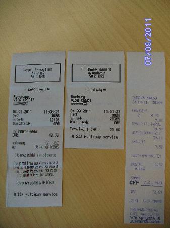 Sankt Moritz - Cafe Hanselmann receipt